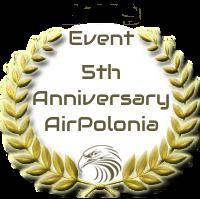 Nagroda za uczestnictwo w evencie z okazji 5-lecia linii AirPolonia